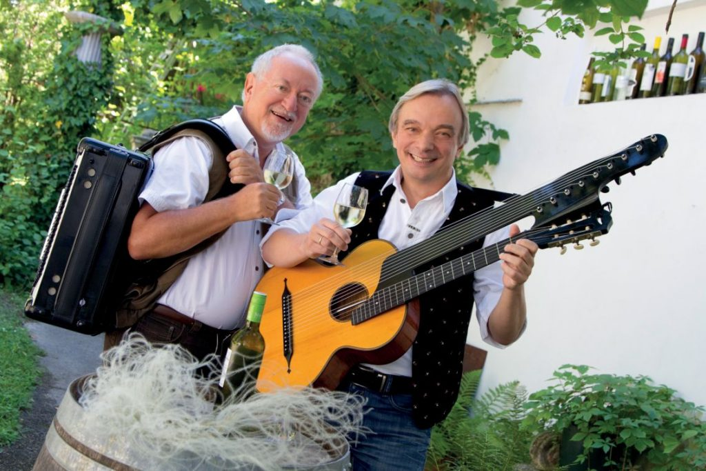 Die Zwa Reblause mit Instrumenten